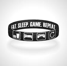 Eat Sleep Game Repeat Reversible Wristband Bracelet FREE Shipping