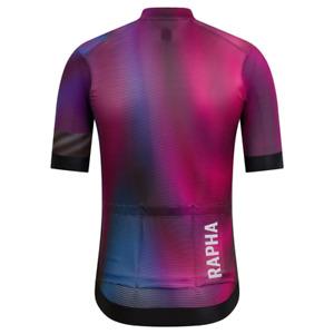 Rapha pro team short sleeve training purple flight print cycling jersey med A+++