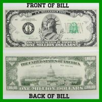 The Traditional One Million Dollar Bill Set of 10 Great Novelty Bill!