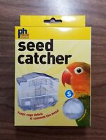 Seed Catcher Guard Mesh Bird Cage Cover Shell Skirt traps cage debris S / M / L