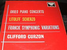DECCA SXL-2173 STEREO LP Litolff Scherzo / Clifford Curzon Grieg Piano Concerto