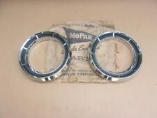 1964 DODGE Polara 500 330 440 NOS MoPar HEADLAMP BEZEL Pair