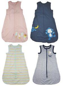 Baby Mädchen Jungen Schlafsack Strampelsack Baumwolle Rosa Blau Gelb 70 90 110