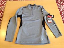 Nike Pro Combat mens fitted gray dri-fit hyperwarm 1/3 zip pullover,size S,NWT