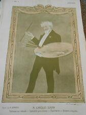 Original Print M. Carolus Duran tableaux sur mesure dames dessin de A. Barrère