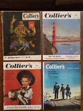 4 Vintage Collier's Magazines; Great Advertising, World War 2 II WW2 Nazi Large