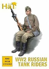 HAT 8263 1/72 WWII Russian Tank Riders 44 Plastic Figures FREE SHIP
