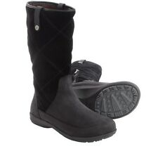 NIB WOMEN 8 BLACK SOLE SUEDE LEATHER LOFT WATER REPELLENT MOLDABLE FOOTBED BOOT