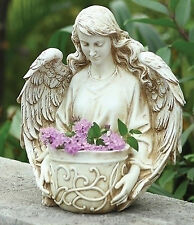 "12.5"" Angel Bust Planter Indoor Outdoor Garden Statue Joseph's Studio # 40044"