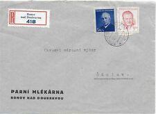 Czechoslovakia Ronov nad Doubravou 12.III 1949 Registered Cover