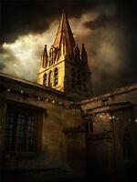 ART PRINT POSTER PHOTO CHURCH FAIRY LIGHTS LIGHTNING LFMP0487