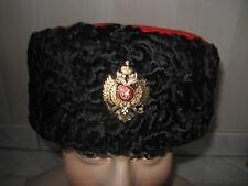 Russie Tsariste koubanka COSAQUE RUSSE touque en d'ASTRAKHAN T.61