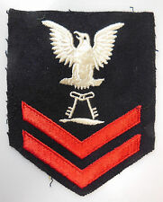 AUTHENTIC US NAVY RATE PATCH, WWII ERA, COMMISSARY STEWARD 2ND CLASS (CS2c)