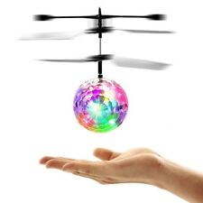 Induction Colorful LED Flash Light Flying Ball Helicopter Toy Up / Down for Kids