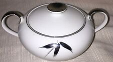Silver Beauty By Royal Song Sugar Bowl with Lid 5524  White Platinum Bamboo