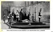 CK73.Vintage Postcard.The Lying in State of King George VI at Westminster Hall
