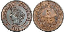 5 CENTIMES CERES 1876 A  F.118 SPL!!!