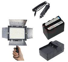 YN-160 LED Video Light for DV Camcorder Canon Nikon DSLR Camera +NP-F970 Battery