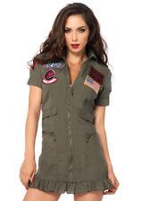 Top Gun Flight Dress Adult Womens Costume Size Medium Tg83700 Leg Avenue