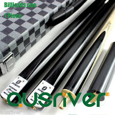 Brand New Ash Billiards Pool Cue Snooker Cue 3/4 Split 15MM Extension 9.8mm Tip