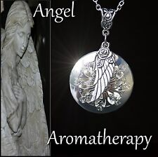 Essential Oil Diffuser Flower Wing Locket Necklace Aromatherapy US Seller