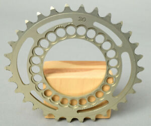 ROTOR 30Tooth chain ring. 34.1 BCD is 58 MM MicroDrive. Goldish in color.