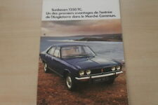 178864) Sunbeam 1250 TC - Frankreich - Prospekt 197?