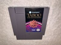 Taboo: The Sixth Sense (Nintendo Entertainment System, 1989) NES Authentic Exc