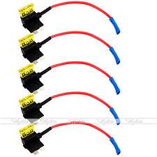 5x Autosicherungen Stromdieb Stromabgreifer Stecksicherung Mit 20A Sicherung Neu