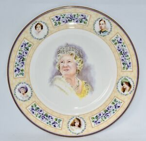 Ltd Ed Royal Doulton TO CELEBRATE THE LIFE of THE QUEEN MOTHER Plate (27.3cm)