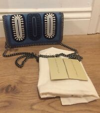 STELLA MCCARTNEY Falabella Embroidered Denim Crossbody Bag