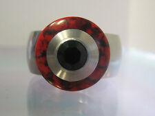 Scheibe - Rot/Schwarz - 15mm - kompatibel m. Charlotte 21 Ring - Zubehör