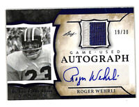 2020 Leaf In The Game Used Roger Wehrli 19/30 auto patch card Cardinals HOF