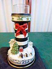 1995 Danbury Mint Lighthouses of Christmas Candlesticks - Polar Lights