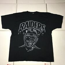 Vtg La Raiders T-shirt 1984 Wold Champs Super Bowl 1980s Screen Stars Black Xl
