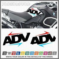 2x ADV Fianco Serbatoio R1200GS ADV 08-13 ADESIVI AUTOCOLLANT PEGATINA STICKERS