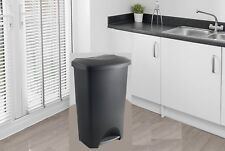 Large Pedal Bin Home Office Kitchen Waste Rubbish Paper Trash Bins 50Litre Addis