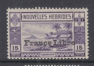 NEW HEBRIDES, FRENCH, 1941 FRANCE LIBRE overprint. 15c. Violet, lhm.