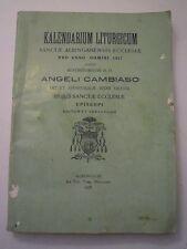 KALENDARIUM LITURGICUM 1917 - ANGELI CAMBIASO VESCOVO DI ALBENGA - PICCARDO L-5