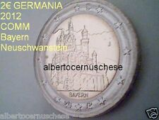 2 euro 2012 GERMANIA Allemagne Alemania Deutschland Germany Neuschwanstein