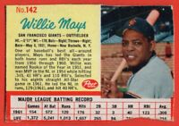 1962 Post #142 Willie Mays GOOD+ Hall of Fame San Francisco Giants FREE SHIPPING