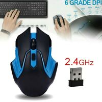 2.4GHz Wireless Optical Mouse Gamer Mice USB Receiver Mause For PC Gaming Laptop