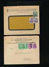 2 Geschäftsbriefe 1938 aus Linz und Wien mit Mischfrankatur  (T2)