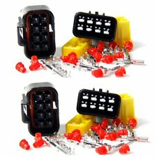 Wire Cable Connector Plug in 8 Pins Way Waterproof Electrical Sets Car HID 8Pin