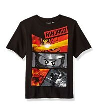 Lego Ninjago Boys' T-Shirt Size 5-6 Big Boys, color Black, NEW and Sealed!
