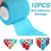 10 rouleaux soins de santé médicale auto-adhésif bandage bande gaze élastique WC