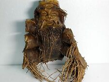 Hand Carved Mask by Natural Bamboo Root -Sculpture Vietnam statue - Very rare #8