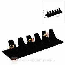 "1 5/8"" Six Finger Black Velvet Ring Display Jewelry Showcase Presentation"