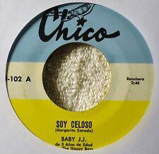 Baby JJ Soy Celoso El Pajarillo 45 NICE Tejano Tex Mex Child Singer Kids Chico