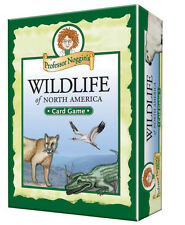 PROFESSOR NOGGIN'S WILDLIFE OF NORTH AMERICA  FUN KIDS CARD GAME OUTSET MEDIA